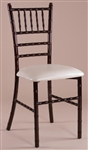 Mahogany Chiavari Metal Chair Discount Prices