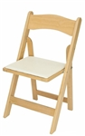 FREE SHIPPING - NATURAL  WOOD  Padded Folding Chairs