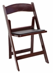 Mahogany  Resin Padded Folding Chairs, Cheap Resin Wedding Chairs, Discount Black Wedding Chairs