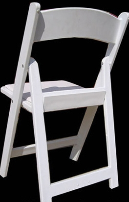 Discount White Resin Padded Folding Chairs Miami Florida