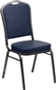 Blue Round Back Banquet Chairs