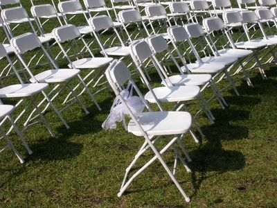 WHITE POLY FOLDING CHAIR ...