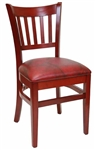 Restauant Chair Cherry Verticle Back