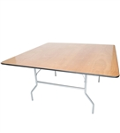 "60"" Square Plywood Round Folding Tables"