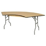 WHOLESALE 1/2 Moon Plywood Table