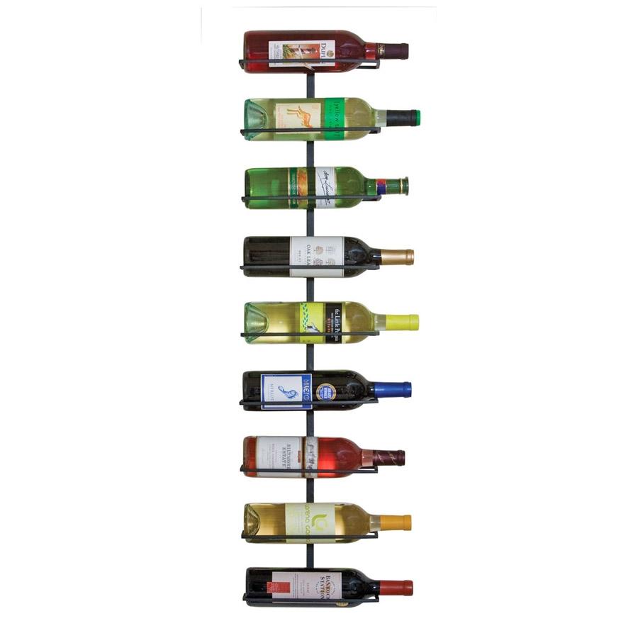 wine ledge 9 bottle wall rack. Black Bedroom Furniture Sets. Home Design Ideas