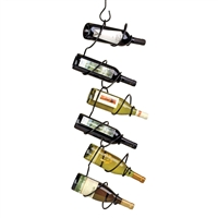 Climbing Tendril 6-Bottle Hanging Rack, Black