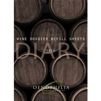 Wine Dossier Trip Notes, 20-Sheet Refill