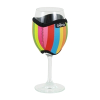 Vino Hug Neoprene Beverage Wrap, Stripes