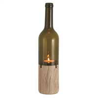 Siena Tea Light Holder, Brown Bottle