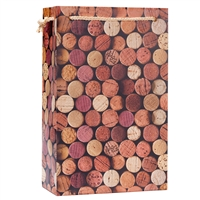 2-Bottle Wine Gift Bag, Corks