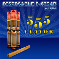 Disposable Electronic Cigar 555 Flavor | Vape Cigars