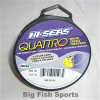 HI-SEAS QUATTRO BRAID 4-COLOR CAMO FISHING LINE- 150YDS