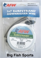 AFW 1X7 SURFSTRAND DOWNRIGGER WIRE SHOCK KIT ASSEMBLY #R135CS-3