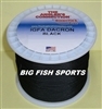 130LB-600YD WOODSTOCK BLACK DACRON BRAIDED FISHING LINE #600/130B