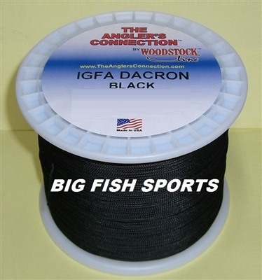 80LB-600YD WOODSTOCK BLACK DACRON BRAIDED FISHING LINE #600/80B