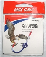 EAGLE CLAW FLAG HAT HOOK/TIE CLASP #155A-FLAG