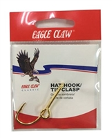 EAGLE CLAW GOLD PLATED HAT HOOK/TIE CLASP #155A
