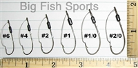 EAGLE CLAW WEEDLESS FISHING HOOKS, 40 PACK #449WA - 1/0