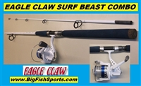 8' EAGLE CLAW SURF BEAST SPINNING COMBINATION #MSSB802MS