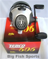ZEBCO 606 SPINCAST REEL 3.0:1 GEAR RATIO #606KBK