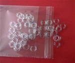 Sew On Roman Shade Rings - Clear 50 pk