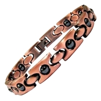 Womens Hematite Copper Magnetic Bracelet