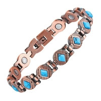 Womens Ventura Copper Magnetic Bracelet