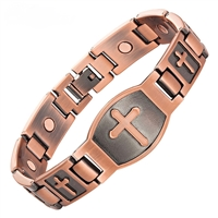 ProExl Magnetic Copper Bracelet with Large Christian Cross
