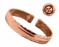 Mens Solid Copper Magnetic Cuff Bracelet Kent Large
