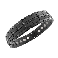 Titanium Energy Golf Magnetic Bracelet in Carbon Black