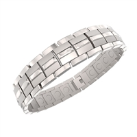 Titanium Energy Golf Magnetic Bracelet in Silver