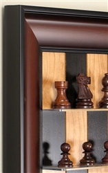 "3"" Rosewood French Set on Black Cherry Board with Red Accent frame"