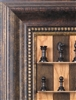 Antik Chess Pieces on Cherry Bean board with Antique frame