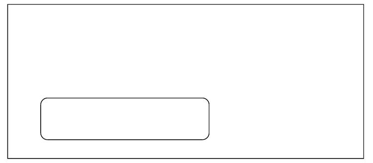 10 single window envelope for 50 advantage laser for 10 window envelope