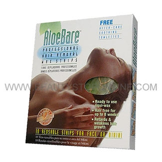 AloeBare Face & Bikini Hair Removal Wax Strips
