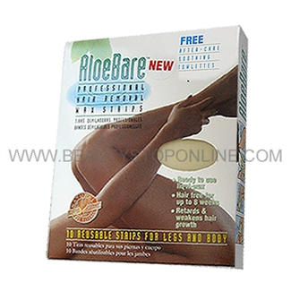 AloeBare Legs & Body Hair Removal Wax Strips