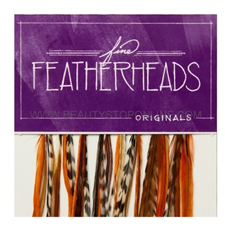 Fine FeatherHeads Original Extensions Orange