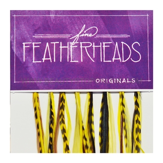 Fine FeatherHeads Original Extensions Yellow