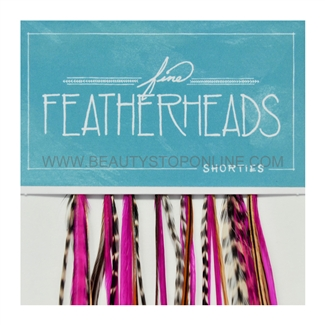 Fine FeatherHeads Shorties Extensions Magenta