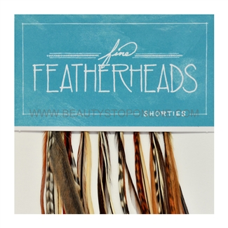Fine FeatherHeads Shorties Extensions Natural