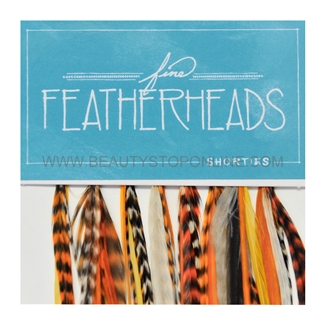 Fine FeatherHeads Shorties Extensions Orange