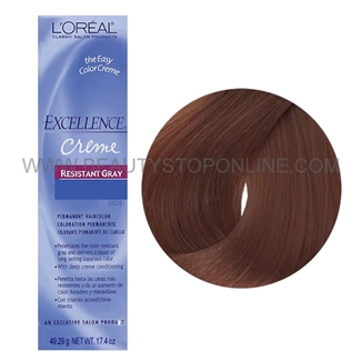 L'Oreal Excellence Creme Resistant Gray - Medium Auburn Brown 5.6X