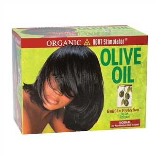 Organic Root Stimulator Olive Oil Built-In Protection No-Lye Relaxer Normal