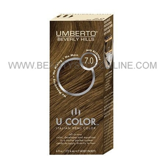 Umberto U Color Italian Demi Color Kit 7.0 Mid Blonde