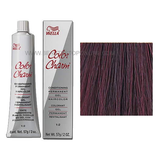 wella color charm permanent gel 3rv367 black cherry - Hair Color Black Cherry