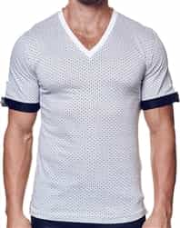 Trendy White V Neck Shirt
