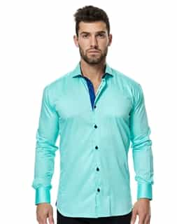 Teal button Down | Maceoo