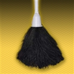 "15"" Black Ostrich Feather Duster (5"" head with 10"" plastic handle).