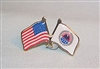 AMVETS Crossed Flag Pin